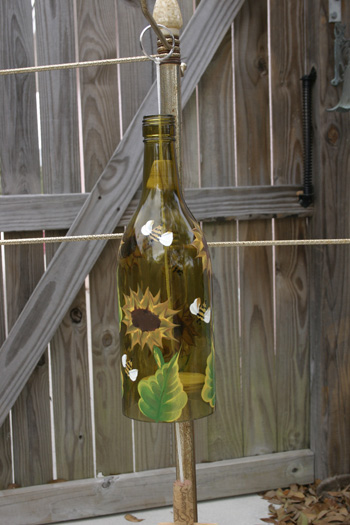 Hand Painted Wind Chime Sunflower